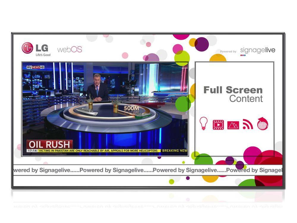 Signagelive läuft jetzt auch auf dem LG webOS (Foto: Signagelive)