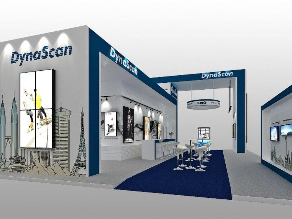 So wird der Stand von DynaScan auf der ISE 2015 aussehen (Rendering: DynaScan)