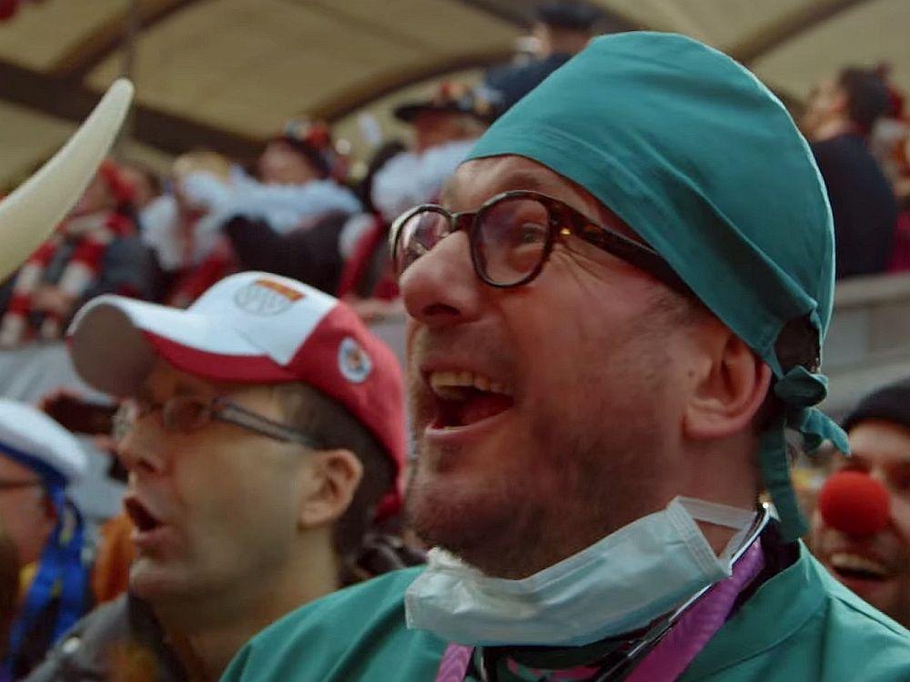 Walter Heins auf dem Kölner Karneval (Screenshot: invidis)