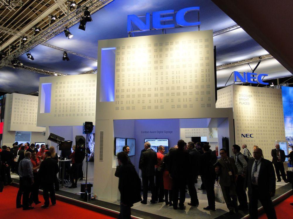 Willkommen in der Stadt - NEC-Stand auf der ISE 2015 (Foto: invidis)
