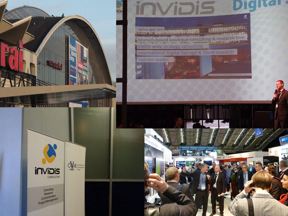 invidis Digital Signage-Vorträge und Panel auf der ISE 2015 (Bilder: invidis)