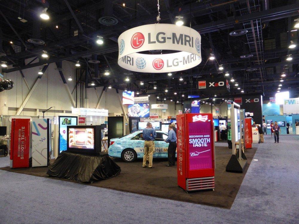 LG-MRI auf der DSE vor Messebeginn (Foto: invidis)
