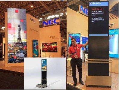 Mobile Stelen von NEC in Heathrow (Fotos. NEC)