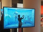 Cheil-Aktion für Samsung während der IFA 2014: Kundin vor KaDeWe-Schaufenster (Foto: invidis)