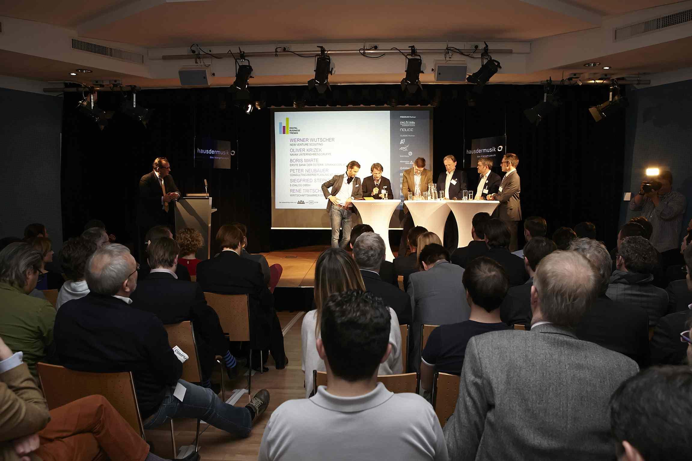 Volles Haus bei der Digital Business Trends Veranstaltung im Haus der Musik in Wien (Foto: APA - Austria Presse Agentur/Katharina Roßboth)