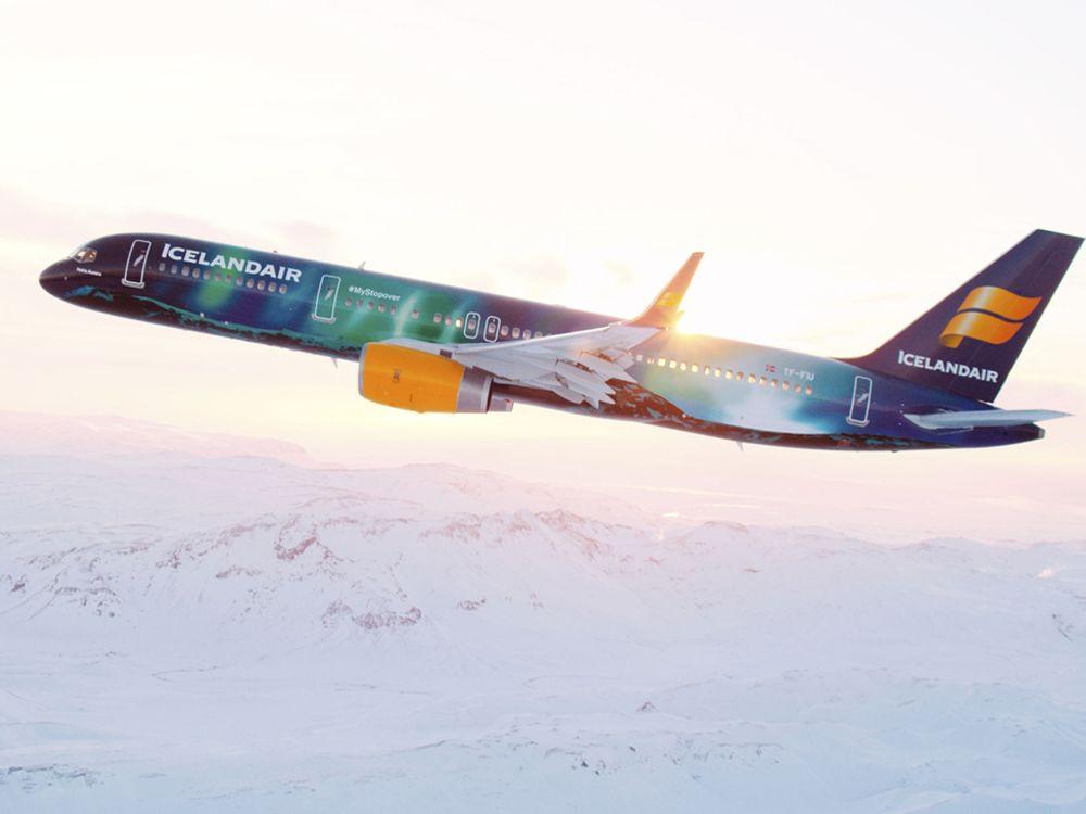Hekla Borealis: Jet von außen (Foto: Icelandair)