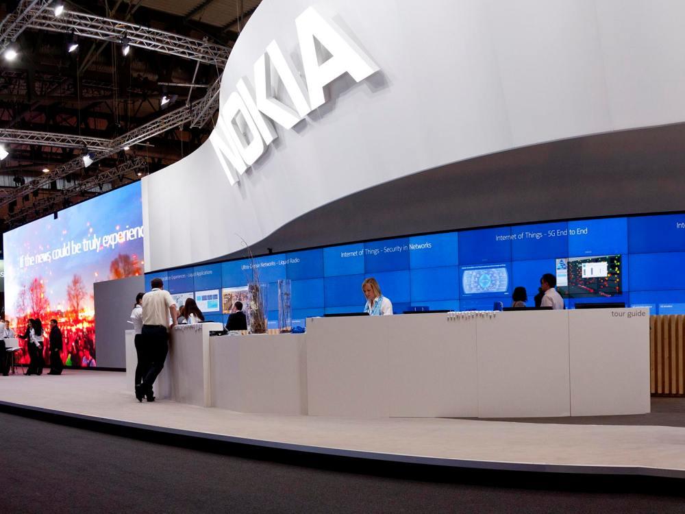 Nokias interaktive Display Wand auf dem MWC 2015 (Foto: Nokia)