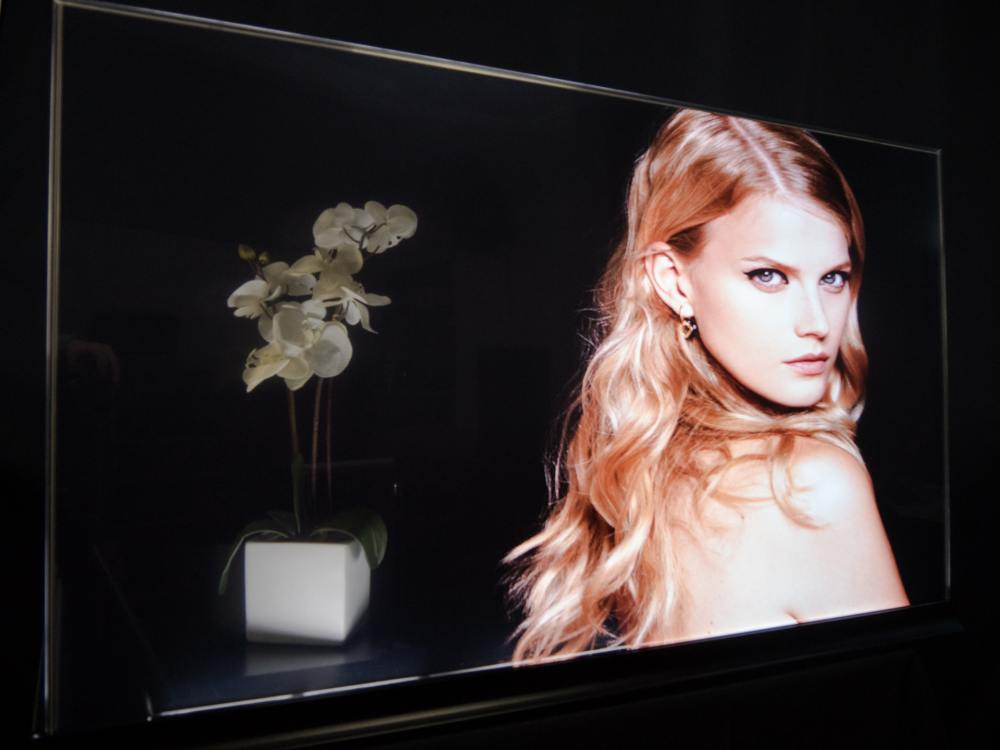 Transparenter OLED 55 Zoll-Prototyp (Foto: Planar)