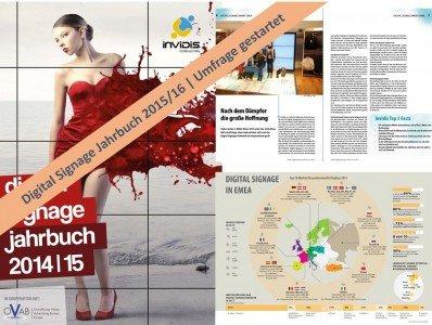 invidis Digital Signage Jahrbuch 2015/16 | Umfrage gestartet (Bild: invidis)