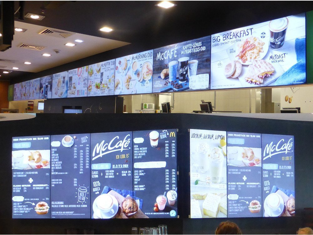Mc Donalds Digital Signage Menu Boards (Photo: invidis)