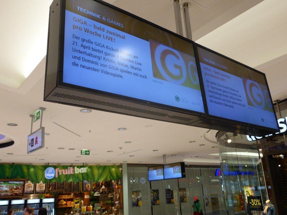 ECE-Flatmedia betreibt nicht nur die Königsbau Passagen in der Fußgägnerzone sondern auch die neue Milaneo Mall im Europaviertel am Bahnhof (Foto: invidis)