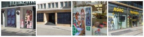 Sonnenlicht und Schaufenster Digital Signage - Tops & Flops in Stuttgert (Galerie zum anklicken)