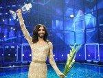 Conchita Wurst, strahlende Siegerin des Vorjahres (Foto: Thomas Hanses / EBU)