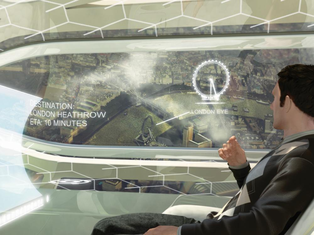 Displaytechnologien im Airbus Concept Plane (Foto: Airbus S.A.S)