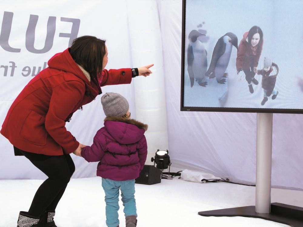 Fujifilm und Media Markt lassen die Pinguine los (Foto: Fujifilm)