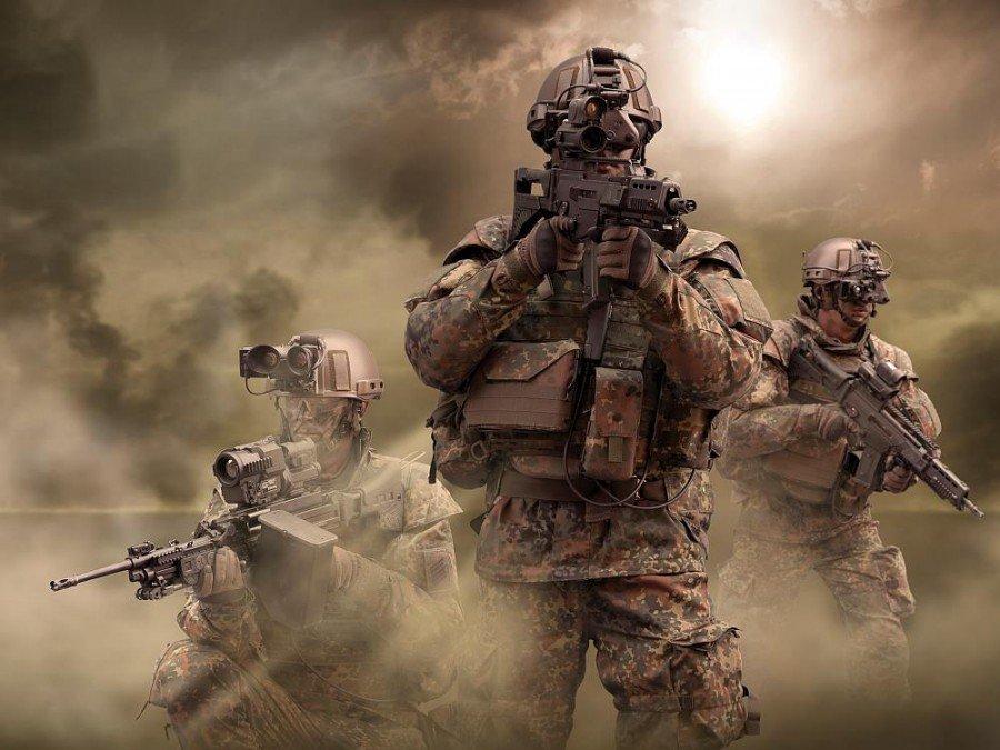 Kann bei Materialtest und Umsatzschub helfen- Infanterist der Zukunft (Foto: Rheinmetall Defence)
