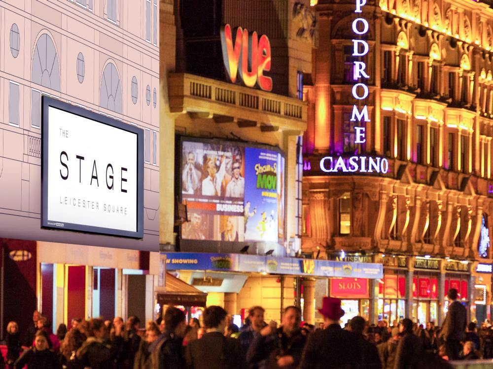 "Mobiler Screen ""The Stage"" in London (Foto/ Rendering: blowUP media)"