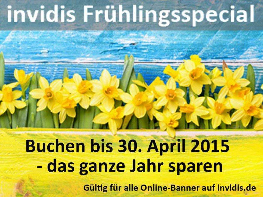 invidis Frühlingsspecial auf Online-Werbebuchungen (Montage: invidis)