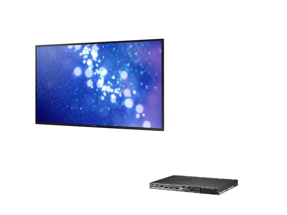 Smart Signage Display DM65D und SBB SBB-B64DV4 (Fotos: Samsung; Montage: invidis)