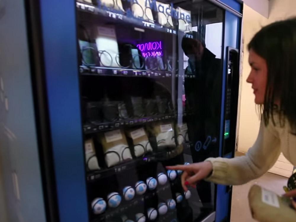 Vending Machine für den guten Zweck: Think Machine (Screenshot: invidis)
