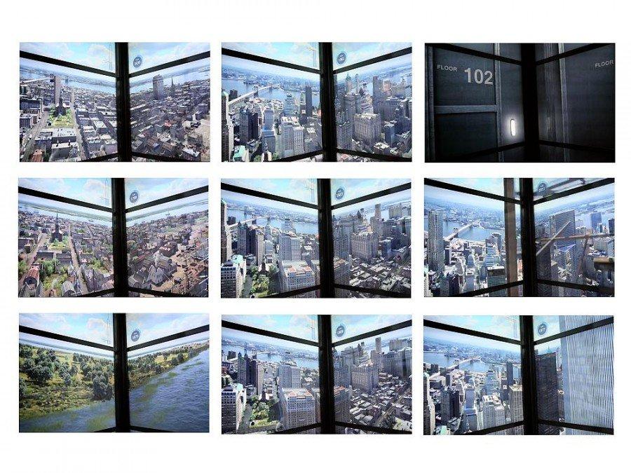 Zeitreise - Geplante Signage-Installation im Aufzug des 1 World Trade Center (Screenshots: invidis)