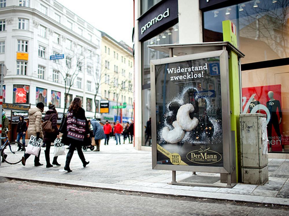 Aktuelle Kampagne für eine Bäckerei auf einem Epamedia-Citylight (Foto: Epamedia)