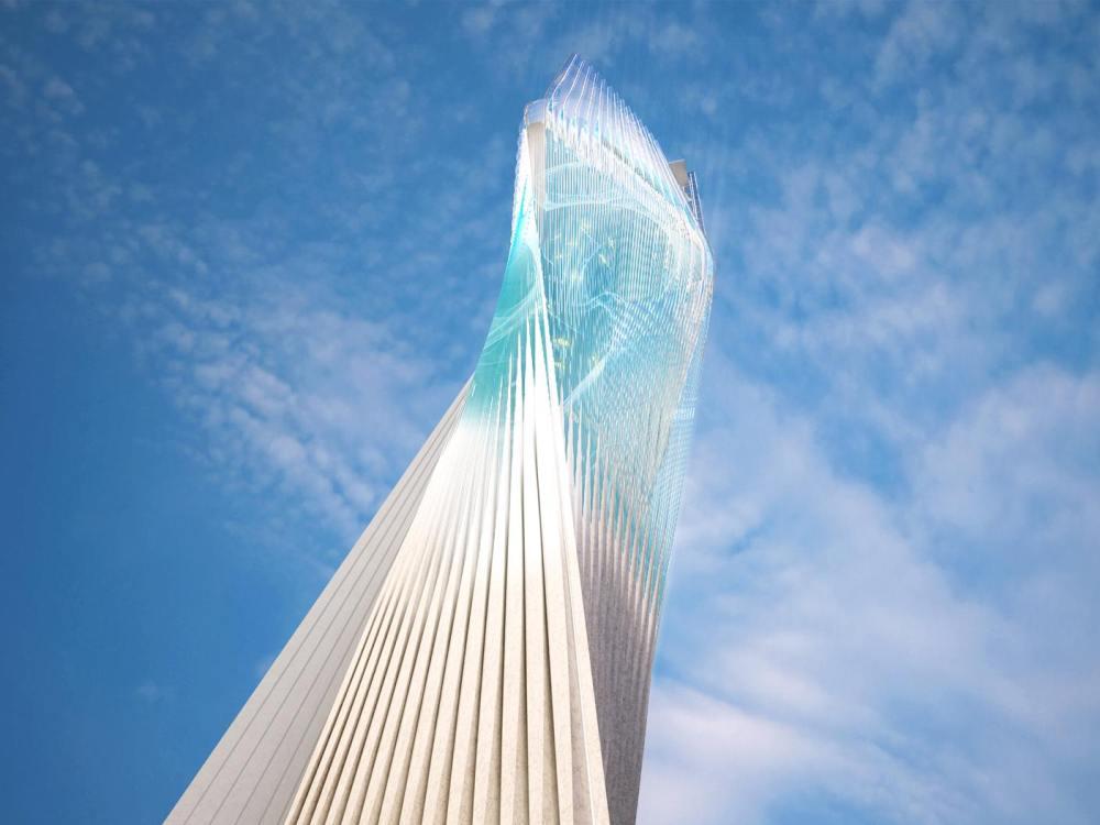Babel oder Billboard - Geplanter Innovation Tower in Miami (Rendering: SHoP Architects)