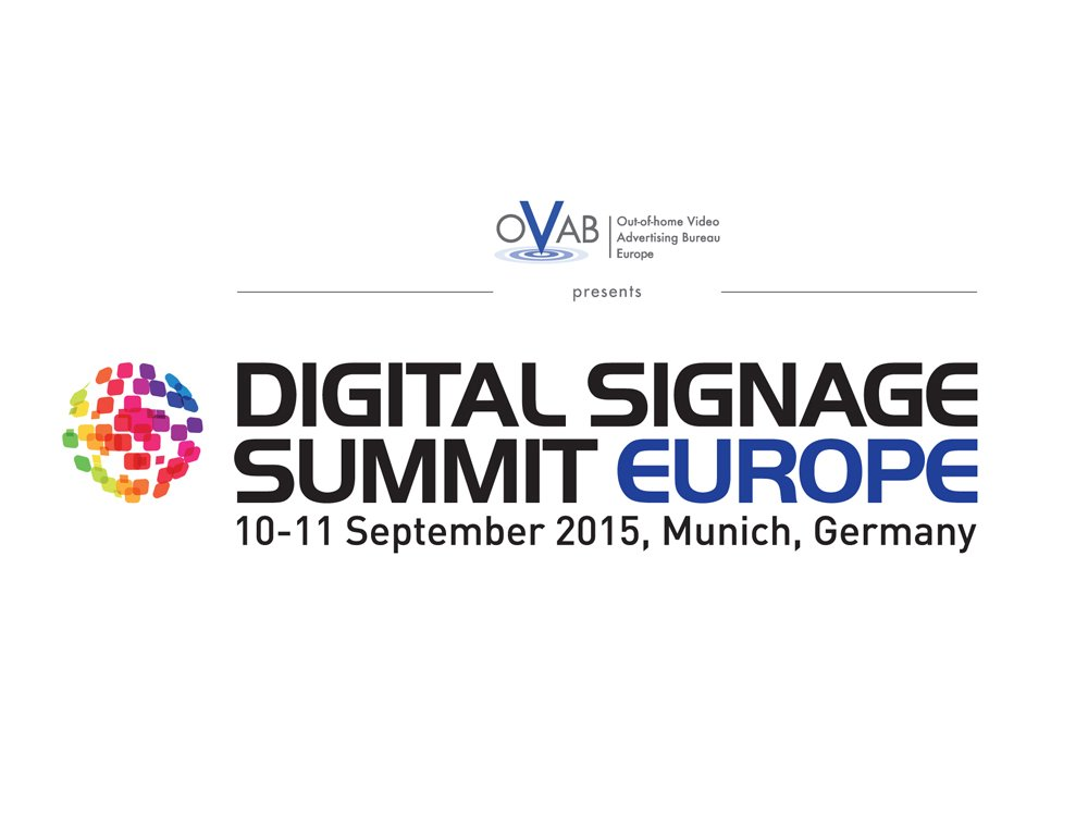 Digital Signage Summit Eurooe am 10,/11. Septmeber 2015 in München (Bild: invidis)