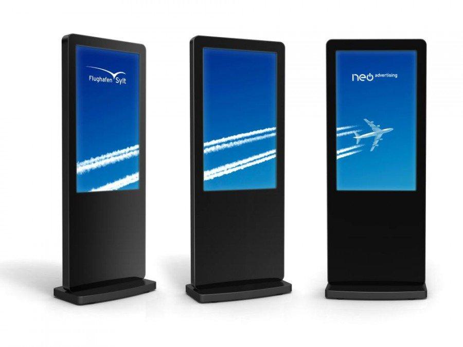 Geplante Stelen für den Airport Sylt (Foto: Neo Advertising)