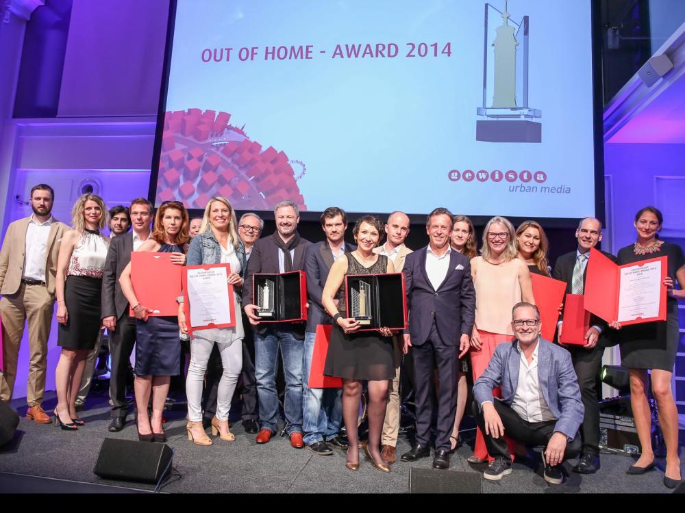 Gewinner der Out of Home-Awards 2014 (Foto: Gewista)
