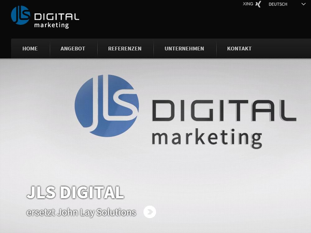 Website der JLS Digital AG (Screenshot: invidis)