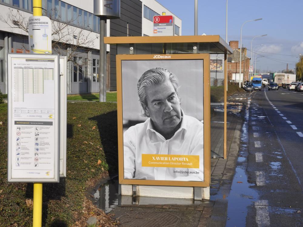 Kommunikationschef von Renault auf einem der Plakate (Foto: BBDO)