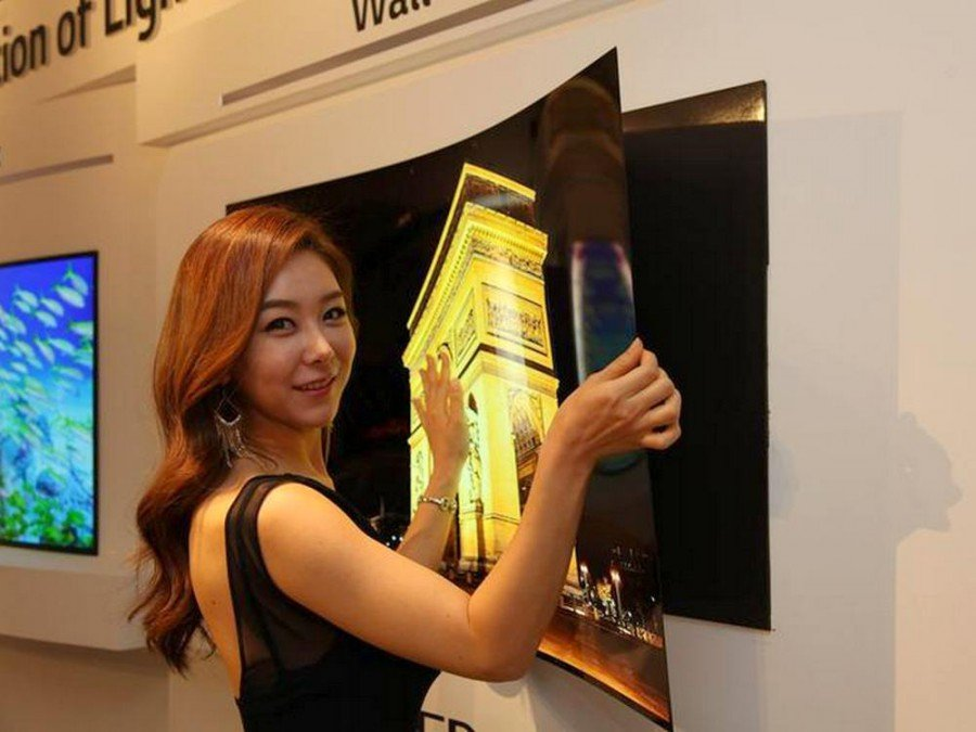 Konzept eines dünnen und leichten OLED TVs (Foto: LD Display)