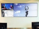 Links unten im Bild Twitter-Feed auf der Investec Video Wall (Foto: Emotion Media)