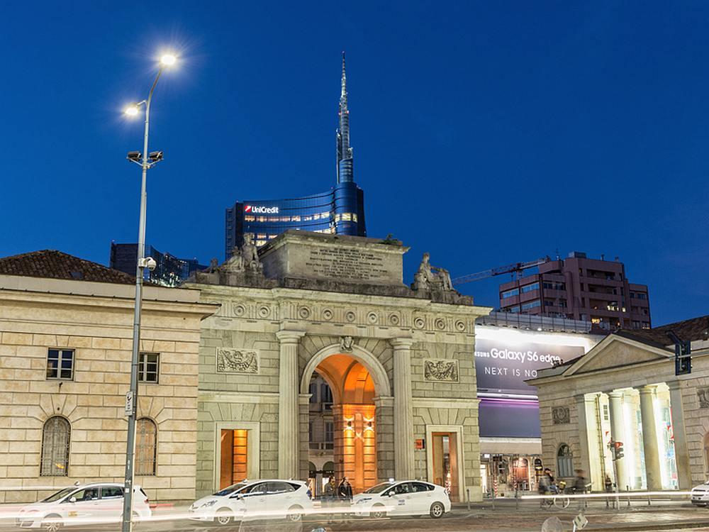Mailand Straßenbeleuchtung mit LED (Foto: AEC Illuminazione)