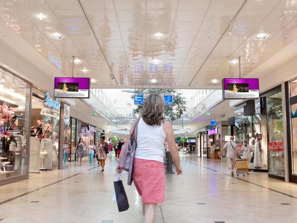 Mall Video-Screens in der City-Galerie Augsburg (Foto: Infoscreen)