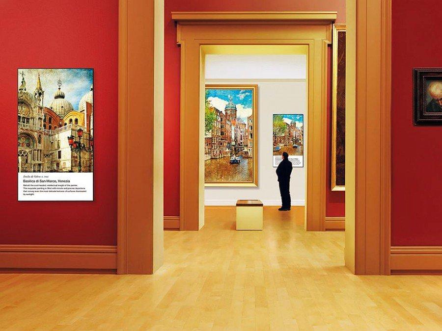 Sharp 4K-Screens PN H 701 im Museum (Foto: Sharp)