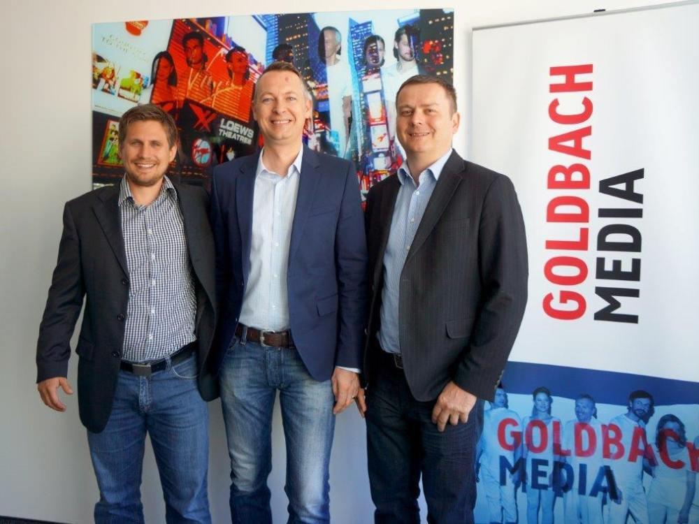 Vorstellung Ambient Meter 2015: Horst Brunner, Unit Dir. DooH ; Josef Almer, Manag. Director (beide Goldbach Media Austria) und TMC-Geschäftsführer Markus Hartl (Foto: Goldbach Media)