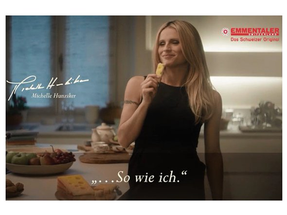 Michelle Hunziker wirbt exklusiv in DooH (Foto: Screenshot)