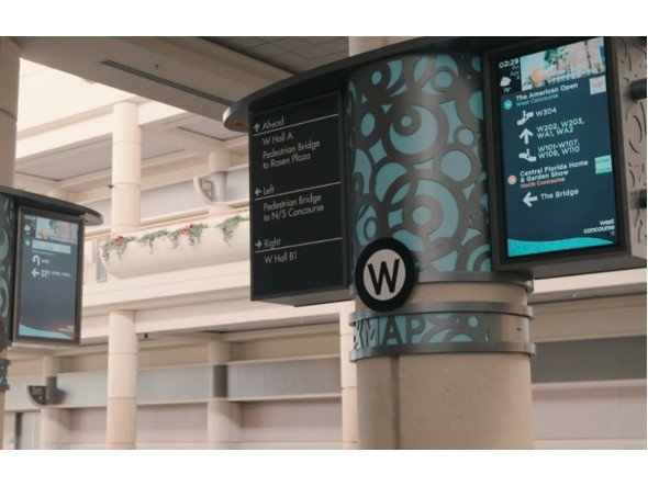 Digital Signage based Wayguiding (Photo: youtube)