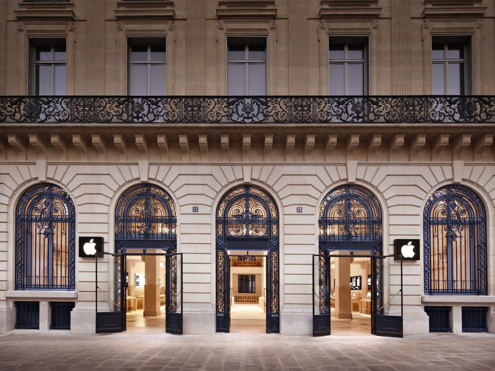 An der Adresse Opéra - Apple Store in Paris (Foto: Apple)