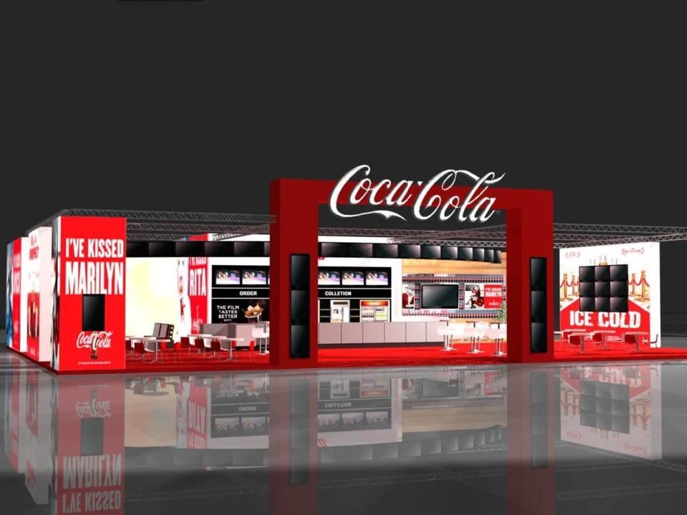 Blick auf die Coca Cola-Lounge der CineEurope (Rendering: YCD Multimedia)