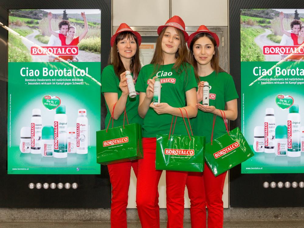 Duft und DooH - Kampagne für Borotalco in Wien (Foto: Gewista)