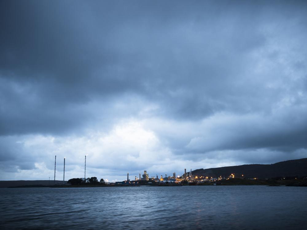 Energiewirtschaft einer der Pfeiler für eyevis - Gas-Verarbeitungslage Kårstø (Foto: Statoil)