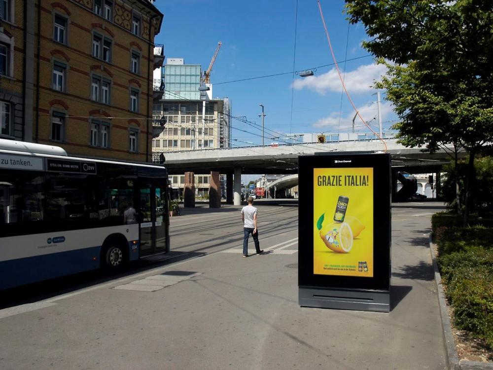 """Geplanter 72"""" Screen am Escher Wyss-Platz (Visualisierung: Stadt Zürich)"""