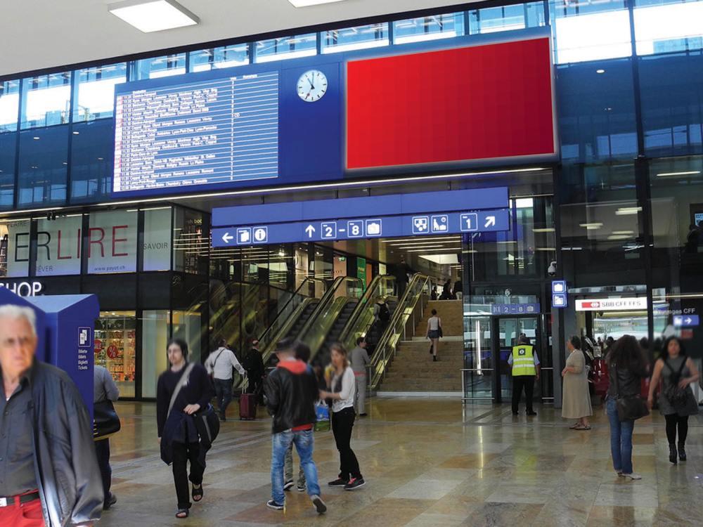 LED Anzeiger und eBoard in Genève Cornavin (Foto: APG|SGA)
