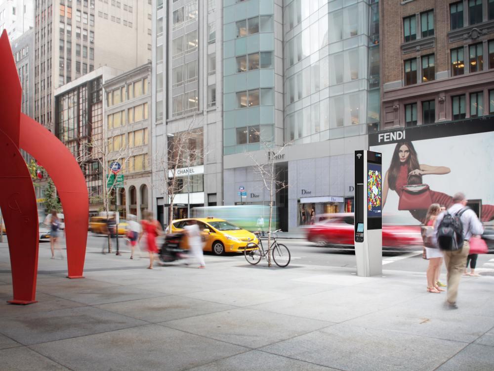 Möglicher LinkNYC Standort in Manhattan (Foto: LinkNYC)