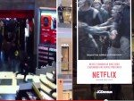 Netflix: Realer Schlussverkauf in Frankreich und Reaktion via DooH (Screenshot: invidis)
