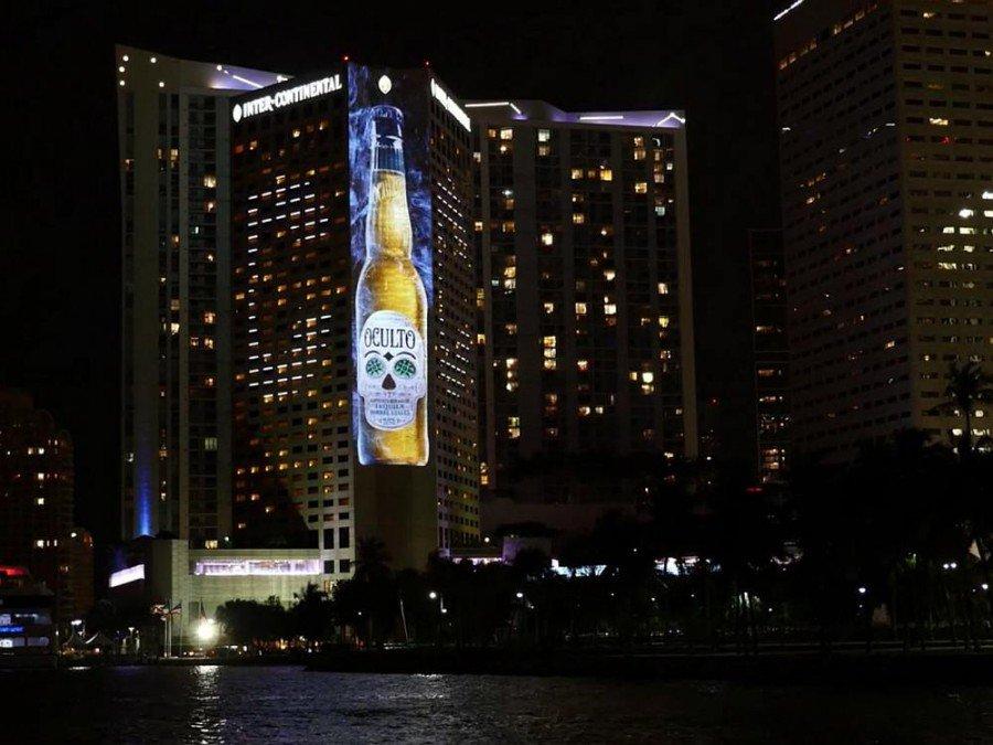 Oculto - Projection Mapping für Anheuser Busch in Miami (Screenshot: invidis)