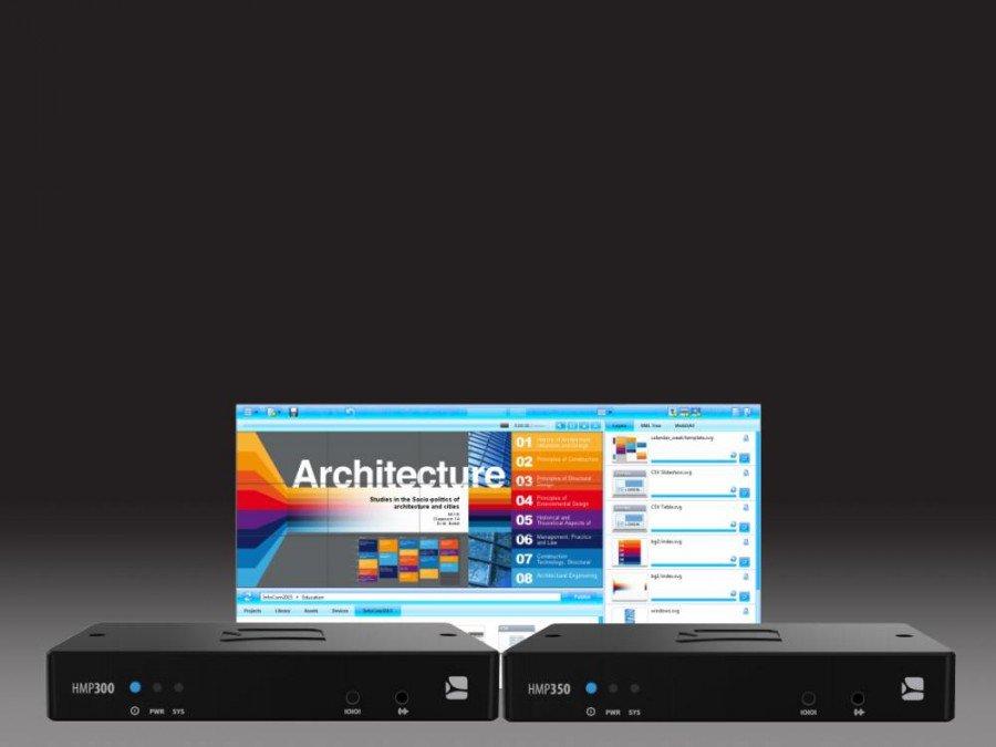 Portfolio-Pflege bei Spinetix - neue Top-Modelle HMP300 und HMP350 (Foto/ Grafik: Spinetix)